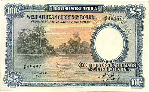 Banconota inglese per il West Africa